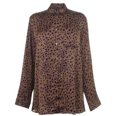 ポールスミス Paul Smith レディース ブラウス・シャツ トップス Cheetah Shirt BEIGE
