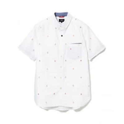 BEAMS HEART / スカル刺繍 半袖シャツ