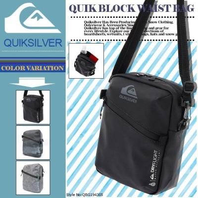 クイックシルバー ショルダーバッグ QUIK BLOCK MINI BAG 撥水 2L ドライフライトメンズ 新作 黒 灰 マルチカラー プレゼント ギフト QUIKSILVER QBG194305