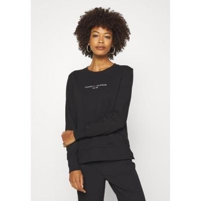 トミー ヒルフィガー パーカー・スウェットシャツ レディース アウター REGULAR - Sweatshirt - black