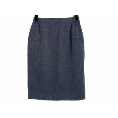 ユキトリイ YUKITORII スカート サイズ11 M レディース ブルー×白【中古】20190720