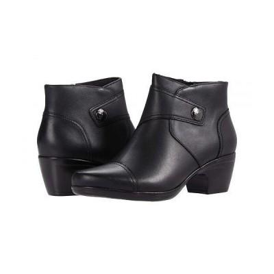 Clarks クラークス レディース 女性用 シューズ 靴 ブーツ アンクル ショートブーツ Emily Calle - Black Leather