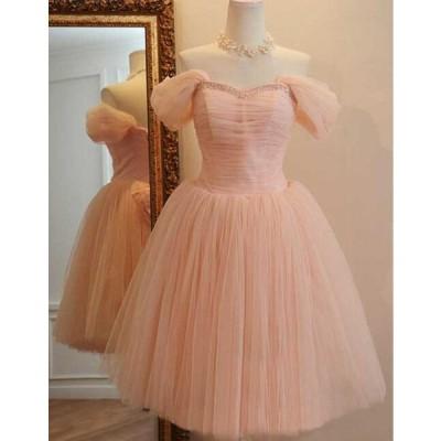 送料無料 ミニウェディングドレス カラードレス ミニフリルドレス ボリュウムチュールドレス ブライズメイドドレス