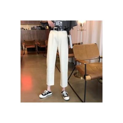 【送料無料】女性のジーンズ 荷重 秋 韓国風 ハイウエスト 着やせ ストレート ワイ | 364331_A63644-5545898