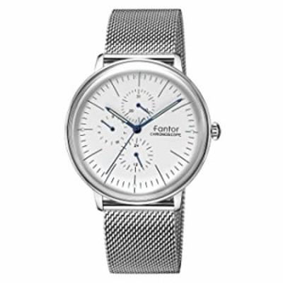 腕時計  メンズウォッチ トップブランド ラグジュアリー クロノグラフ ブラックメッシュ 防水 カジュアルウォッチ メンズ ドレス クラシ