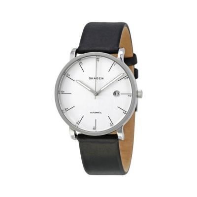 腕時計 スカーゲン Skagen Hagen シルバー ダイヤル オートマチック メンズ 腕時計 SKW6302