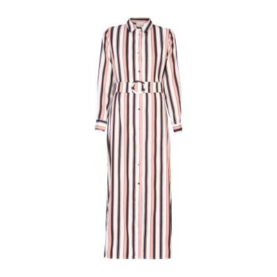 WEILI ZHENG ロングワンピース&ドレス ホワイト S ポリエステル 88% / コットン 12% ロングワンピース&ドレス