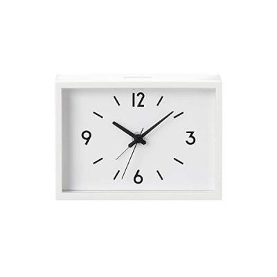 無印良品 駅の時計・アラームクロック・アイボリー 型番:MJ‐ACJS1 38673576 大