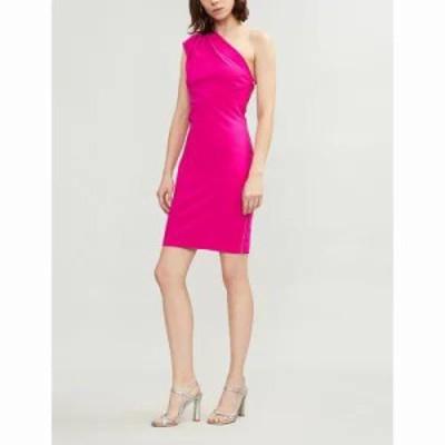 テッドベーカー パーティードレス bettiea one-shoulder crepe dress Bright pink