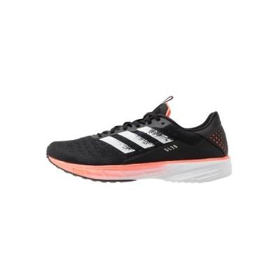 アディダス シューズ メンズ ランニング SL20 - Neutral running shoes - core black/footwear white/signal coral