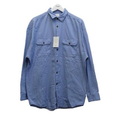 【6月24日値下】MR.GENTLEMAN 20SS「DENIM BIG WORK SHIRT」デニムビッグワークシャツ ブルー サイズ:M (代官山