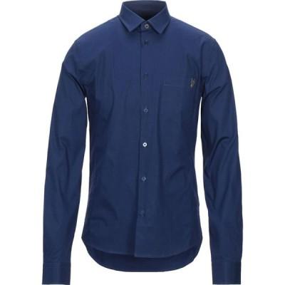 ヴェルサーチ VERSACE JEANS メンズ シャツ トップス Solid Color Shirt Dark blue