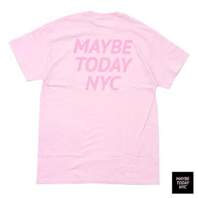 新品 MAYBE TODAY NYC (メイビー トゥデイ) Tonal Logo Tee [Tシャツ] LT.PINK 999-005128-033