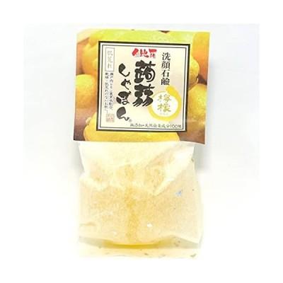 蒟蒻しゃぼん 金比羅蒟蒻しゃぼん 檸檬 (100g) 石鹸 洗顔石鹸 セラミド配合 (無添加/肌荒れ/保湿) 乾燥肌 敏感肌の方へ
