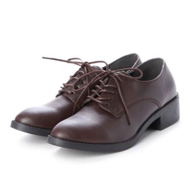 シュナシュナ Shuna Shuna ベーシック革靴ローファー (ダークブラウン)
