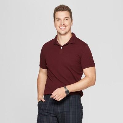 グッドフェロー Goodfellow & Co メンズ ポロシャツ 半袖 トップス Slim Fit Short Sleeve Loring Polo Shirt - Pomegranate Mystery