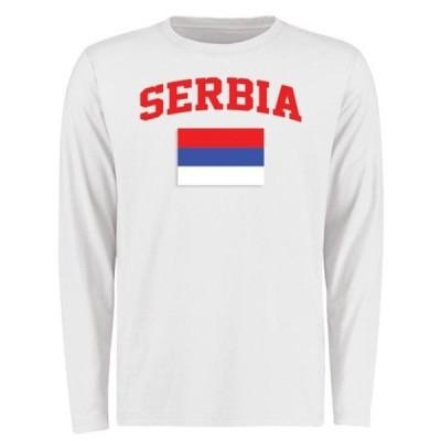 ファナティクス ブランデッド メンズ Tシャツ トップス Serbia Flag Long Sleeve T-Shirt