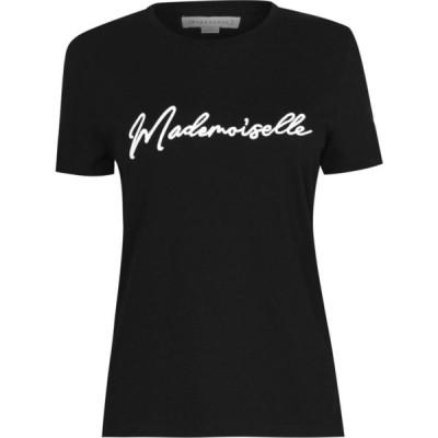 ウェアハウス Warehouse レディース Tシャツ トップス MADEMOISELLE T-SHIRT Black