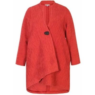 チェスカ Chesca レディース コート アウター Crinkle Asymmetric Coat Burnt Orange