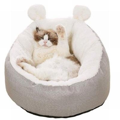 YA-0000809 猫 ベッド ふわふわ あったか 洗える 秋冬 柔らかい 保温 防寒 滑り止め ウサギ型 (M)