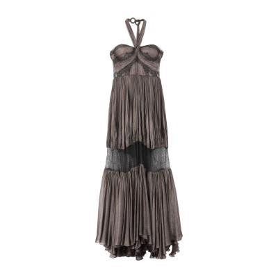 マリア・ルーシア・ホーハン MARIA LUCIA HOHAN ロングワンピース&ドレス ブロンズ 38 シルク 100% ロングワンピース&ドレス