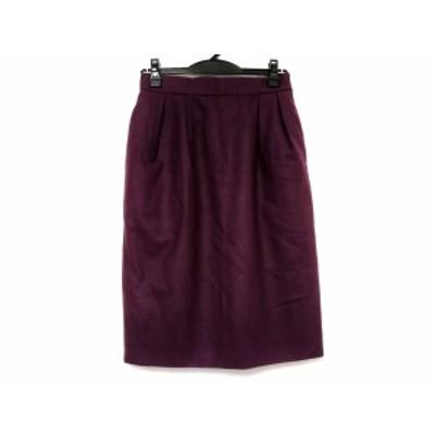 イヴサンローラン YvesSaintLaurent スカート サイズM レディース パープル【中古】20200509