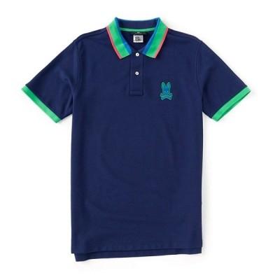 サイコバニー メンズ ポロシャツ トップス Hepthorne Short-Sleeve Polo Shirt Blue