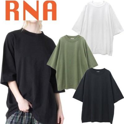 アールエヌエー RNA OE天竺 BIG Tシャツ 半袖 オーバーサイズ ビッグシルエット トレンド モックネック コットン素材 ブランド レディース