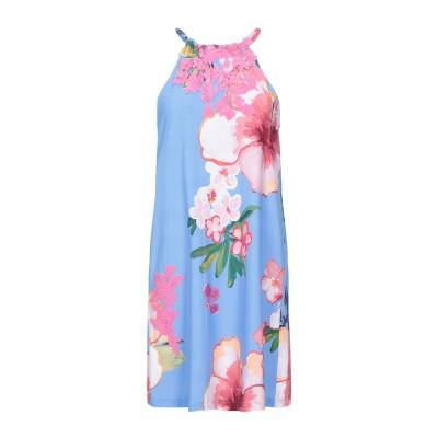 RAFFAELA D'ANGELO ミニワンピース&ドレス アジュールブルー XS ナイロン 80% / ポリウレタン 20% ミニワンピース&ドレス