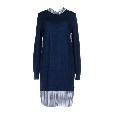 ツインセット シモーナ バルビエリ TWINSET ミニワンピース&ドレス ブルー S コットン 92% / カシミヤ 8% / ナイロン / ポリ