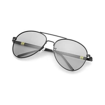 TJUTR 偏光運転サングラス 変色調光レンズ メタルフレーム 紫外線カット メンズ スポーツ 超軽量 運転などアウトドアにも最適