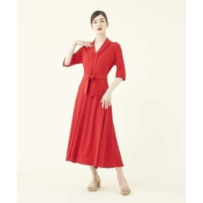 Sybilla/シビラ 【sybilla the dress】フレアデザインポンチドレス レッド SS