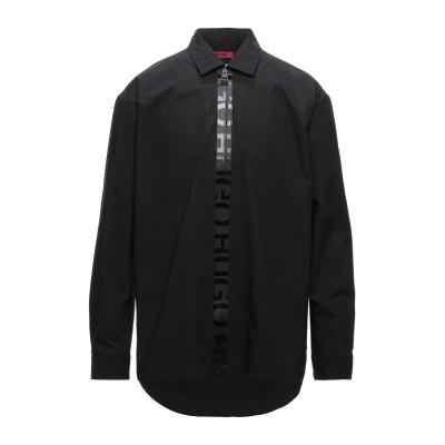 HUGO HUGO BOSS シャツ ブラック M コットン 62% / ナイロン 31% / ポリウレタン 7% シャツ