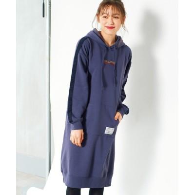 大きいサイズ 裏起毛ライン使い配色ワンピース(コンバース) ,スマイルランド, ワンピース, plus size dress