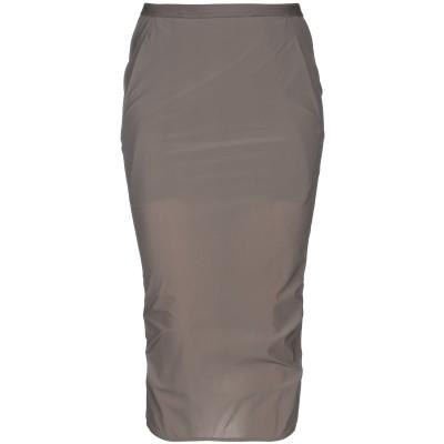 リック オウエンス RICK OWENS 7分丈スカート スチールグレー 40 ナイロン 78% / ポリウレタン 22% 7分丈スカート
