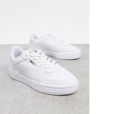 プーマ メンズ スニーカー シューズ Puma CA Pro sneakers in triple white Puma white