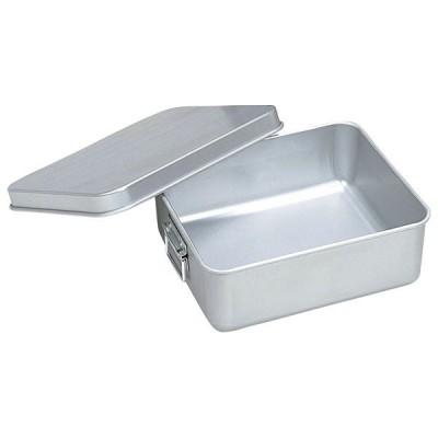 (業務用・食缶)アルマイト 保温・冷バットコンテナー(蓋付)002(内面スミフロン加工)(入数:1)