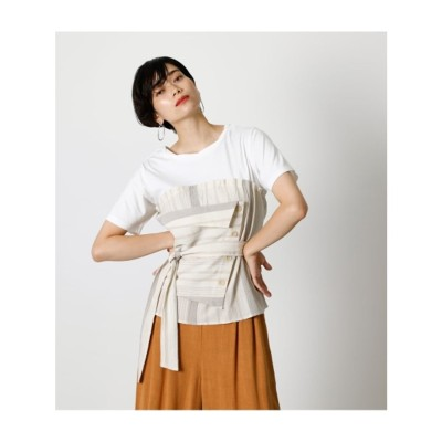 BUTTON COMBINATION TOP 柄BEG5