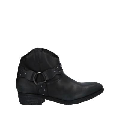 LE PURE ショートブーツ ブラック 40 牛革(カーフ) ショートブーツ