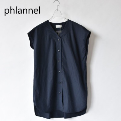 Phlannel  フランネル sale セール30%off  Cotton Typewriter French Sleeve Shirt  BBZ1001504A0001