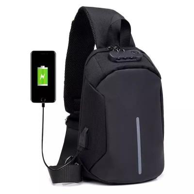ボディバッグ メンズ ダイヤルロック設計 軽量 耐摩設計 前掛け ワンショルダー 撥水素材 USB充電 お出かけ 旅行