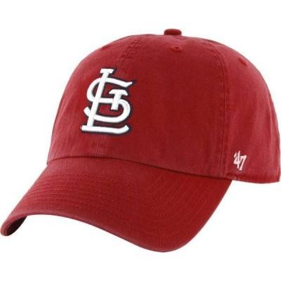 フォーティーセブン メンズ 帽子 アクセサリー '47 Men's St. Louis Cardinals Red Clean Up Adjustable Hat