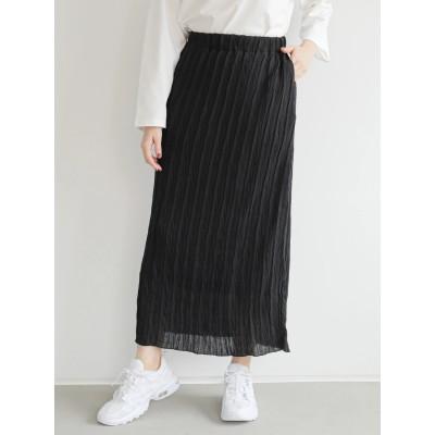 ・RAY CASSIN シワ加工ナロースカート