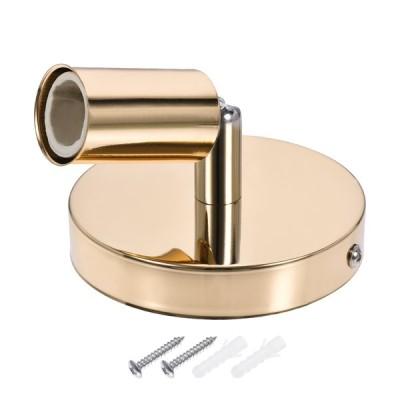 uxcell ランプ電球ホルダー スキュー アルミ製 ベージュゴールド 180度調整可能 100x20mm