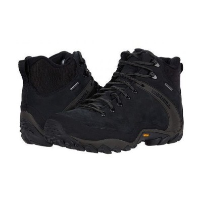 Merrell メレル メンズ 男性用 シューズ 靴 ブーツ ハイキングブーツ Chameleon 8 Leather Mid Waterproof - Black