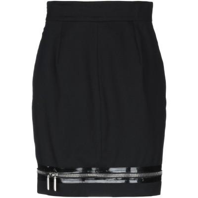 ディースクエアード DSQUARED2 ミニスカート ブラック 38 バージンウール 98% / ポリウレタン 2% ミニスカート