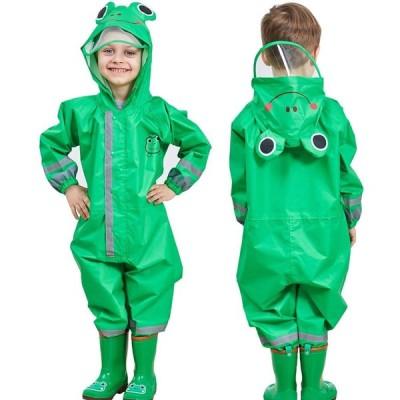 レインコート キッズ 子供 レインウェア 男の子 女の子 雨具 男女兼用 軽量 かわいい、
