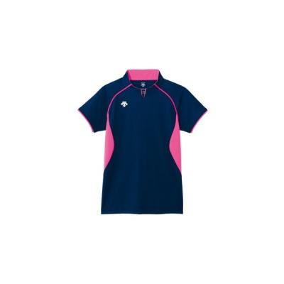 デサント(DESCENTE) H S 半袖 GAME SHIRT ゲームシャツ ネイビー DSS4420-NVY バレーボール