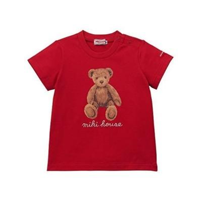 【ミキハウス】 Tシャツ 男の子 女の子 ベビー キッズ 子供服 半袖 110cm レッド