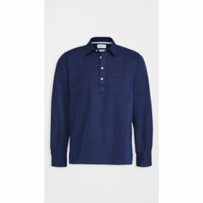 ノースプロジェクト Norse Projects メンズ ポロシャツ トップス oscar indigo half placket shirt Indigo